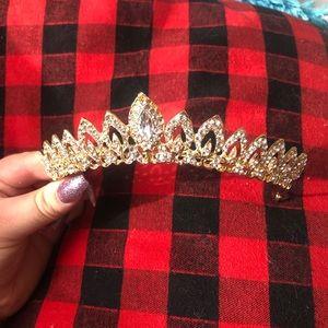 Accessories - Diamond Gold Bridal Tiara
